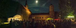 The moon, the castle, the audience, the band